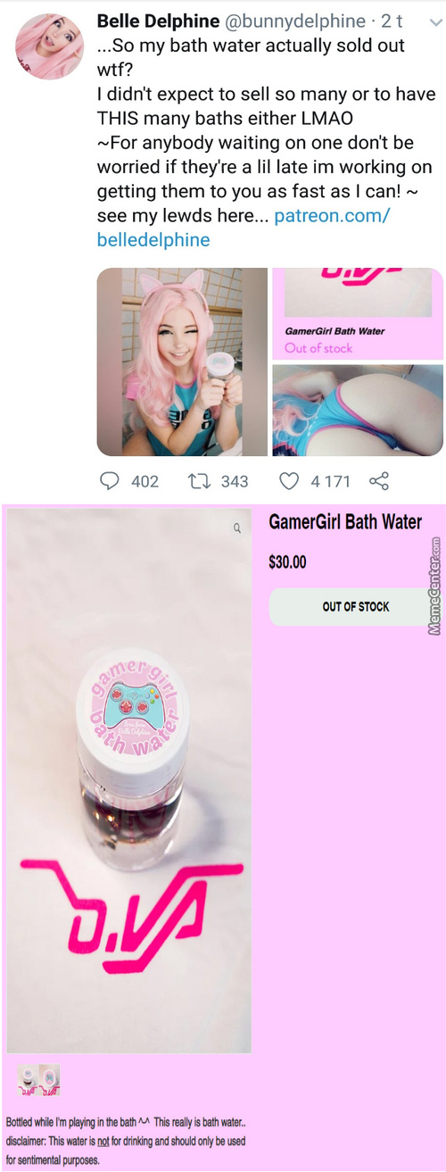 Which One Of You Fucking Degenerates Is Buying Fucking Bathwater ?