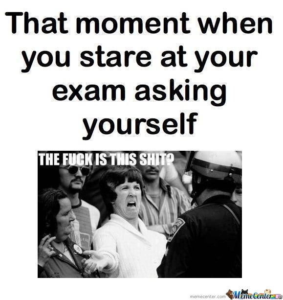 While Giving Exams