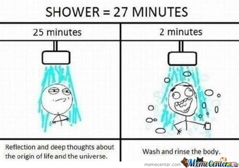 While Taking A Shower