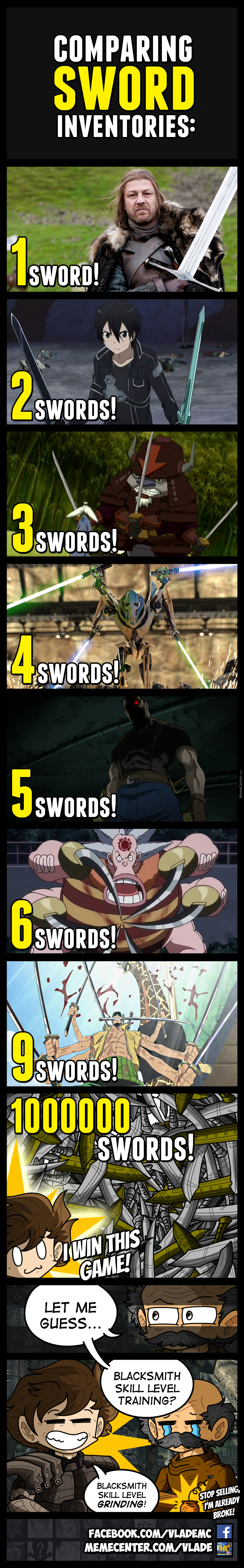 Who Can Carry The Most Swords?