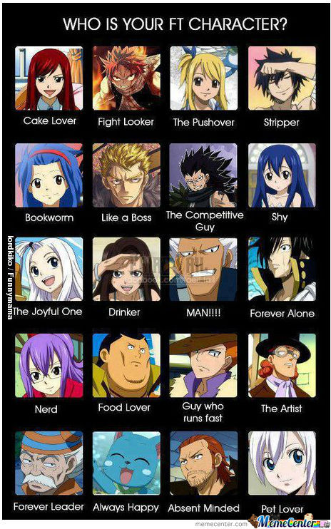 who is favorite fairy tail character  by gunsmoke