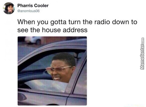 Why Am I Even Turning Down The Radio ? What's The Point ?