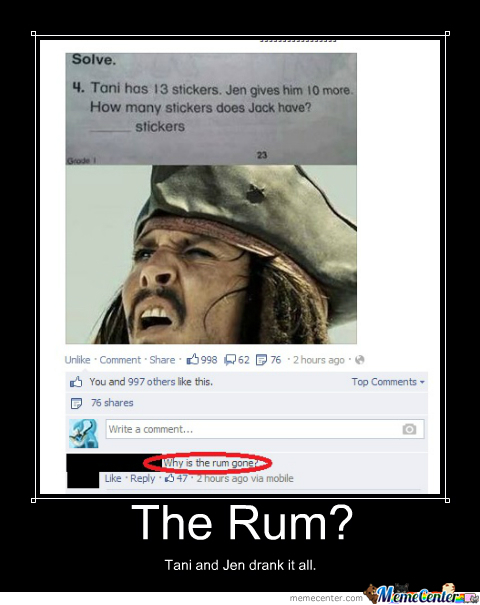 Why's The Rum Gone?