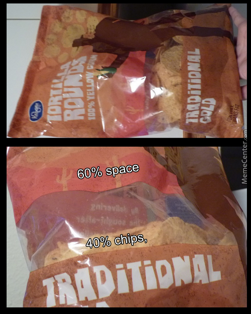Why Are Chip Bags Half Empty? Answer In Source