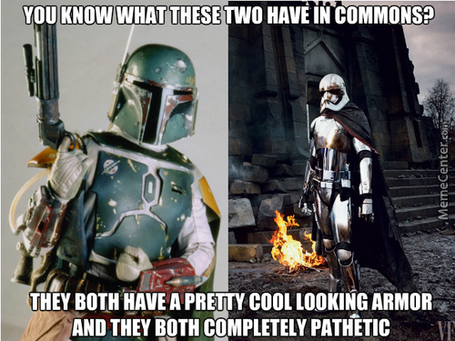 Why Cool Looking Armor Characters In Star Wars Have Been Going Out Like A B*tch?