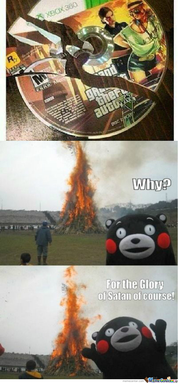 Why? For The Glory Of Satan Ofcourse!