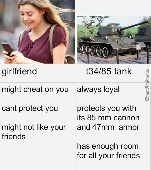 Why Have A Girlfriend When You Can Have A Tankfriend?