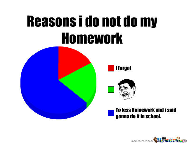 Reasons to do my homework