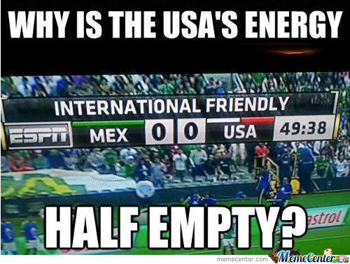 Why Is The Energy Half Empty?