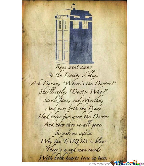 Why The Tardis Is Blue