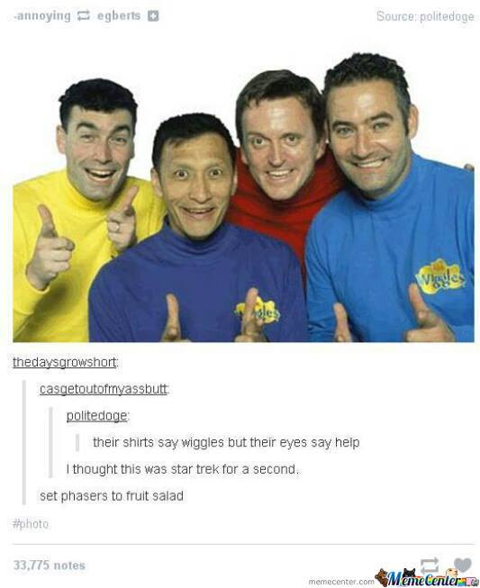 Wiggles/star Trek Awesomeness