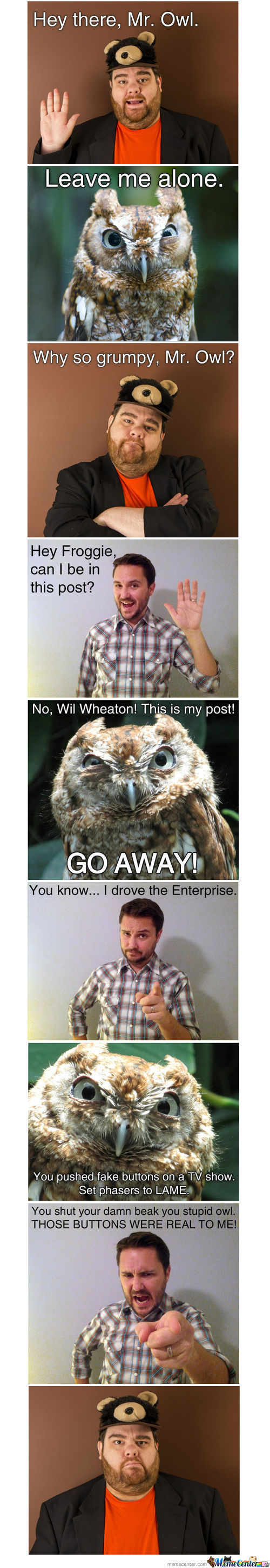Will Wheaton & The Grumpy Owl