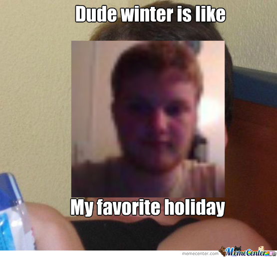 Winter Is His Favorite Holiday!