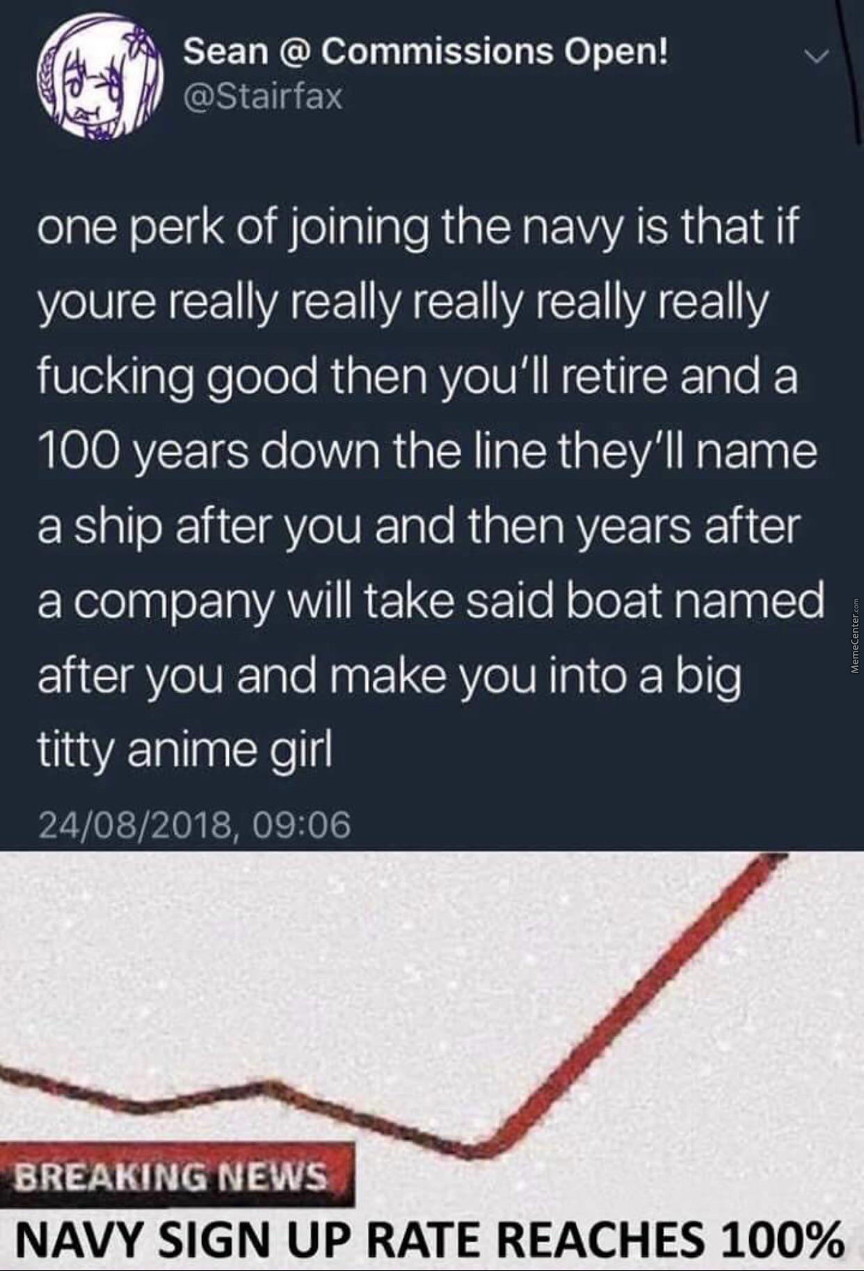 Wish Me Luck Fellas I'Ll Join The Navy
