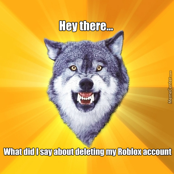 Wolf Got His Roblox Account Deleted by splendorthewolf