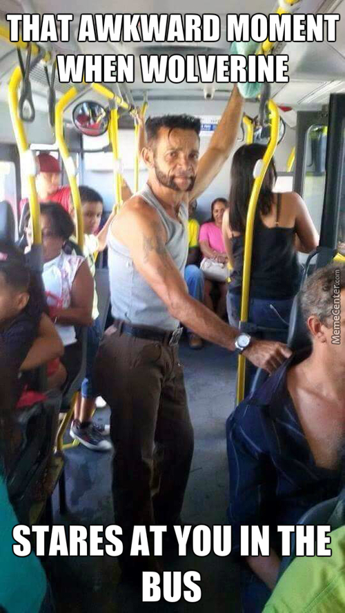 Wolverine Takes The Bus.