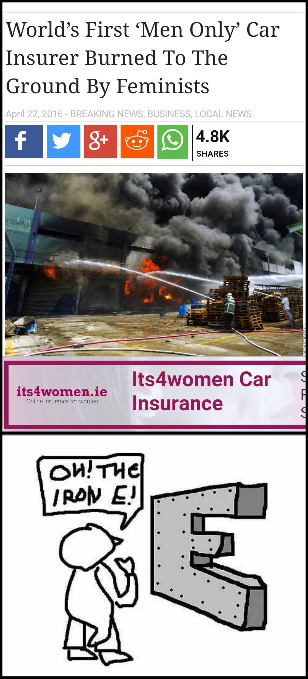 Wonder If They Had Fire Insurance? by greywolfhound - Meme ...