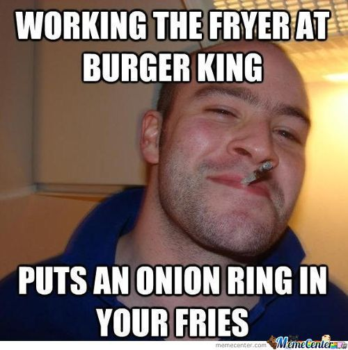 Working The Fryer At Burger King