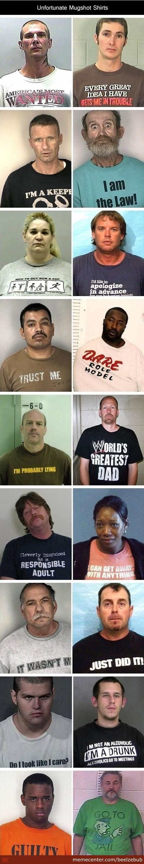 Worst T-Shirts To Wear While Getting A Mugshot