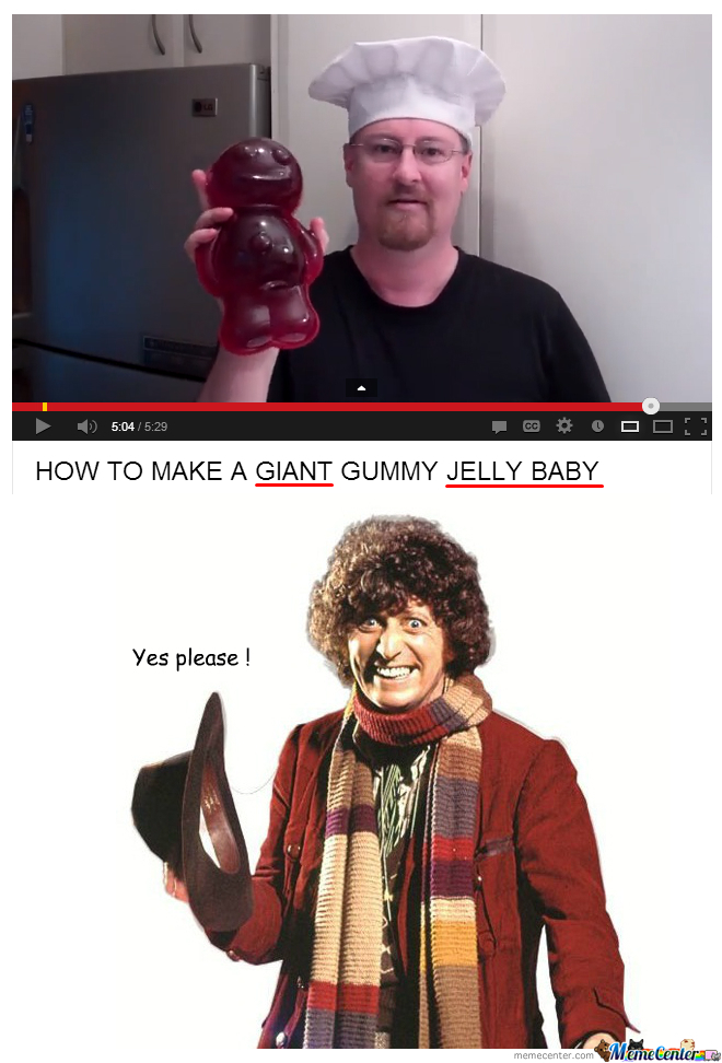 Would You Like A Giant Jelly Baby? Yes Please