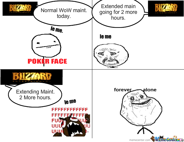 wow maintenance day by icyblast meme center