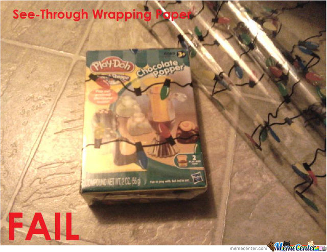 Wrapping Paper Fail