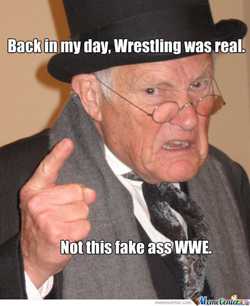 Wrestling Back In The Day