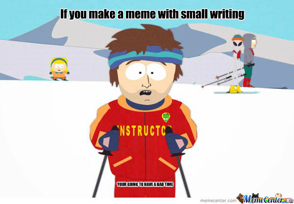 Write Bigger Damn It!