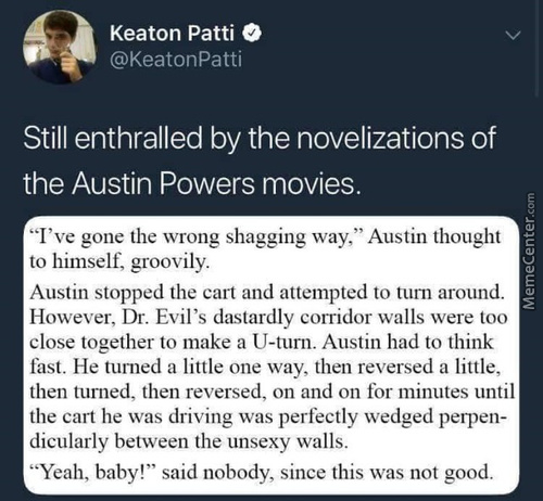 Wtf Now I Wanna Read Austin Powers