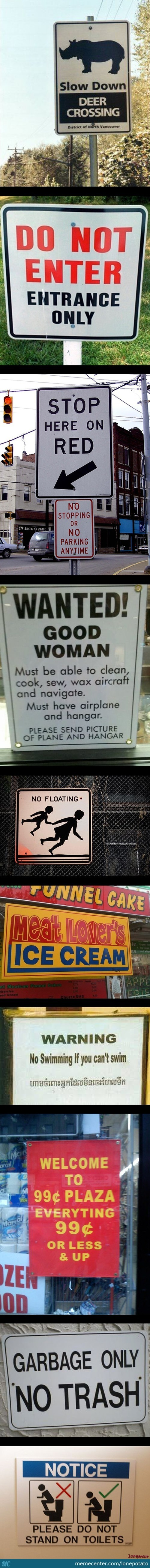 Wtf Signs ( Please Use Potato If You Understand )