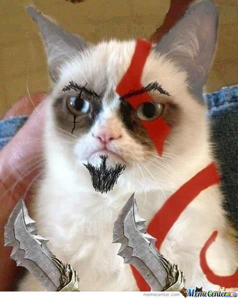 Kratos Grumpy Cat