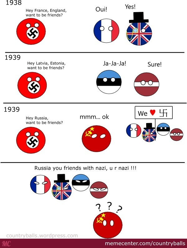 Ww2 By Countryballs Meme Center