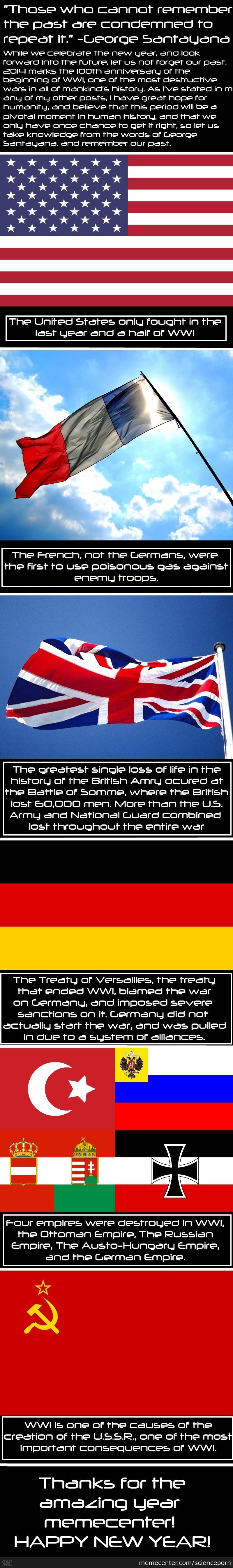 Wwi 100Th Anniversary Facts