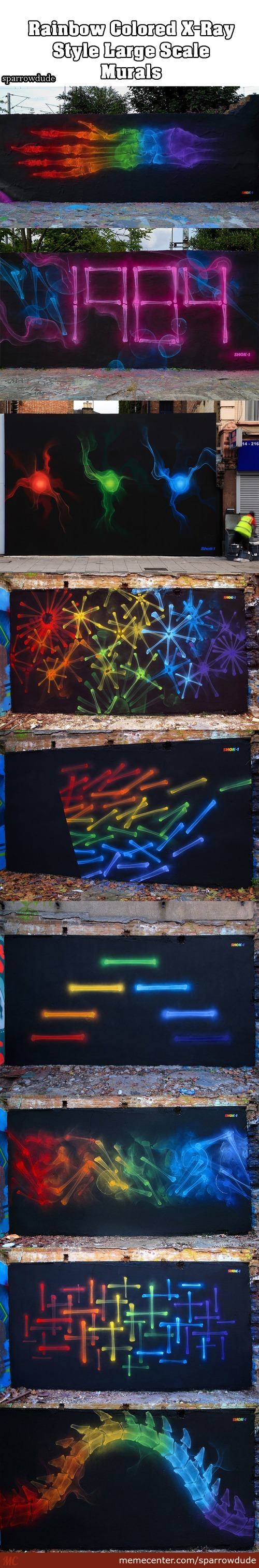 X-Ray Style Murals