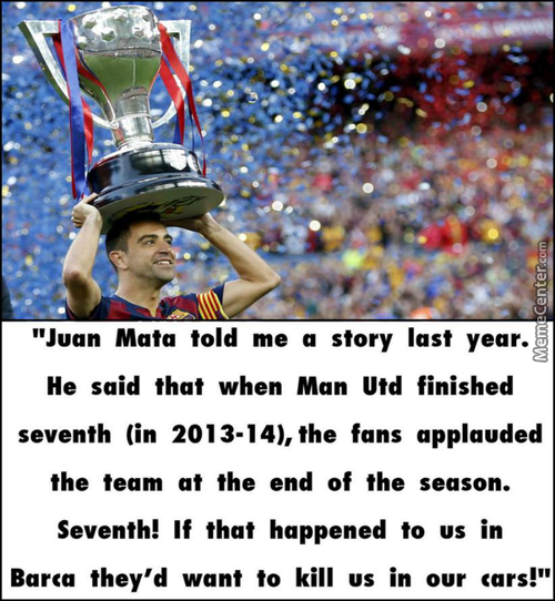 Xavi About Manchester United Fans...