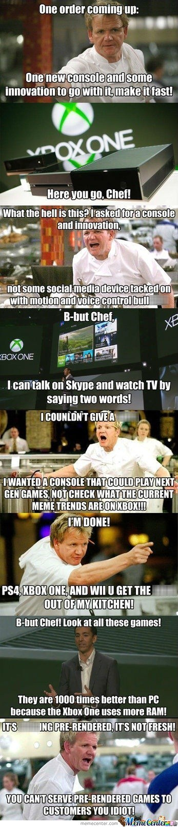 Xbox One Is Tore Appart By Gordon Ramsay