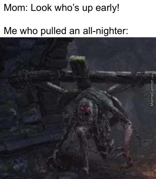Y-Yeah I Just Totally Cant Sleep Mom