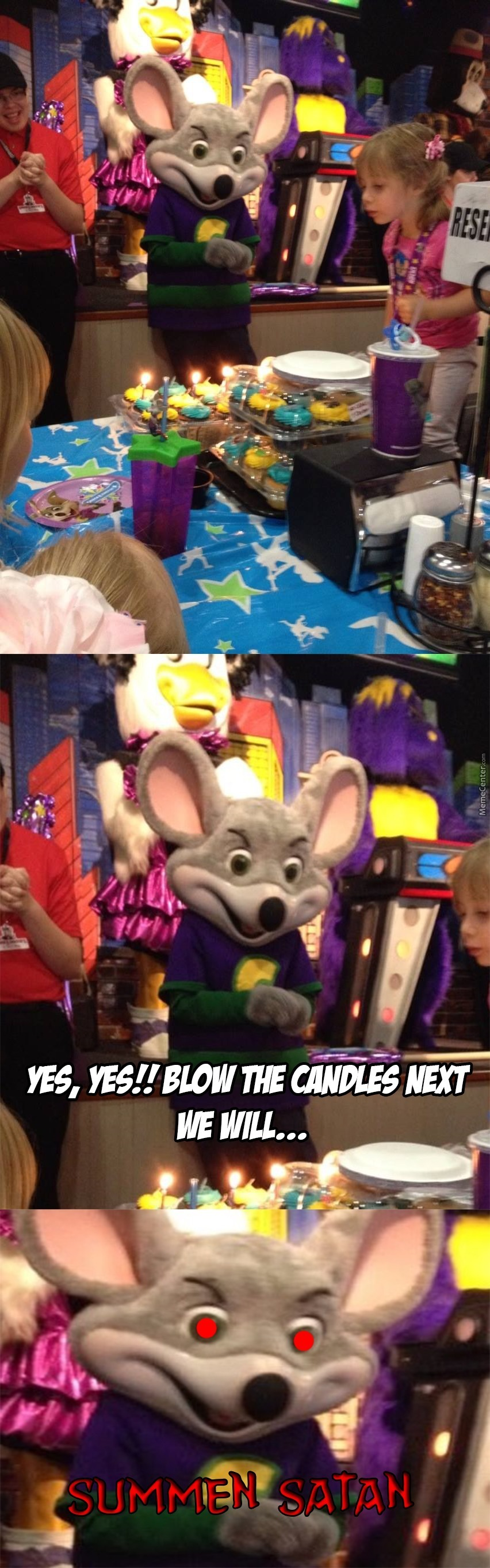Yaaay Let All Go To Chuck E Cheese's What The Worse Thing Could Happen
