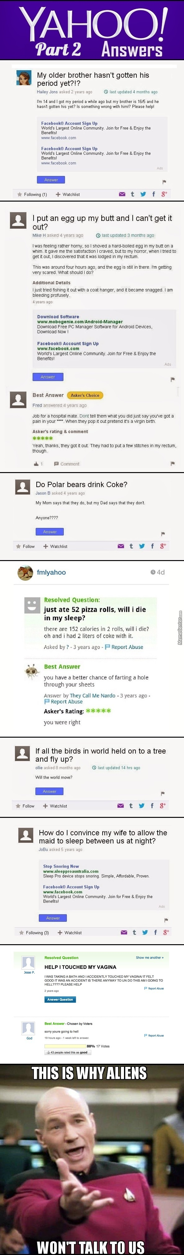 Yahoo Answers Part 2