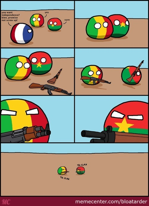 Yeah, Don't Give Weapons To Newborn Countries