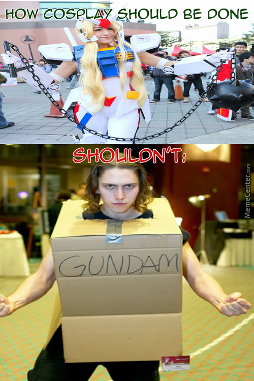 Yeah I'll Go To The Cosplay Convention In A Cardboard Box, Probably Win First Place