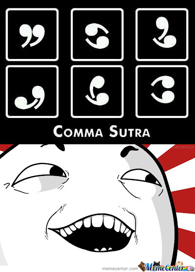 Yeah That's Right, It's A Comma