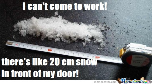 20 cm snow in front of my door