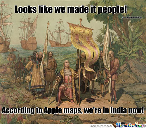 Yes, Christopher Columbus Used Apple Maps