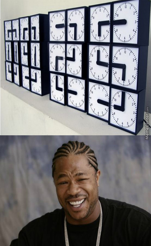 Yo Dawg I Put A Clock In Yo Clocks