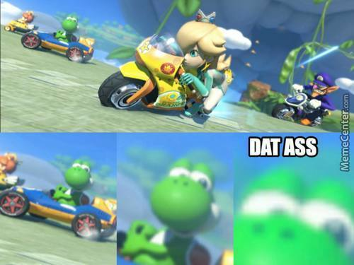 Yoshi Just Can't Get Enough Of It.