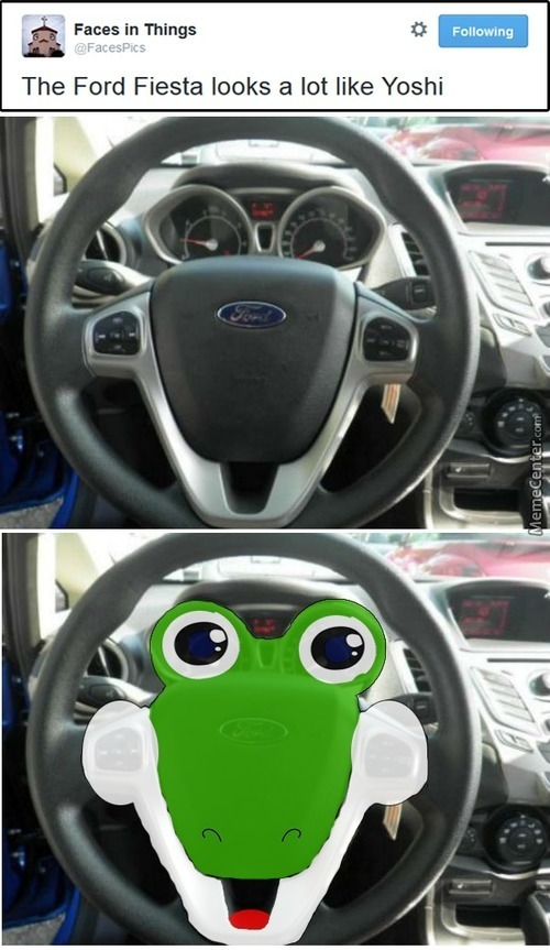 Yoshi Steering Wheel. You Get Sucked In And Your Ability Gets Stolen