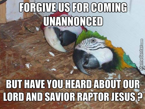 You'll Need Raptor Jesus