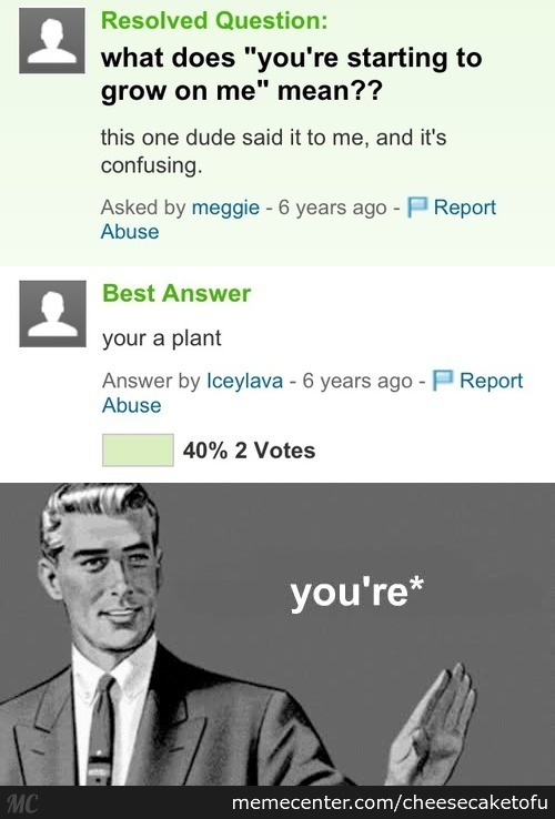 You're A Plant
