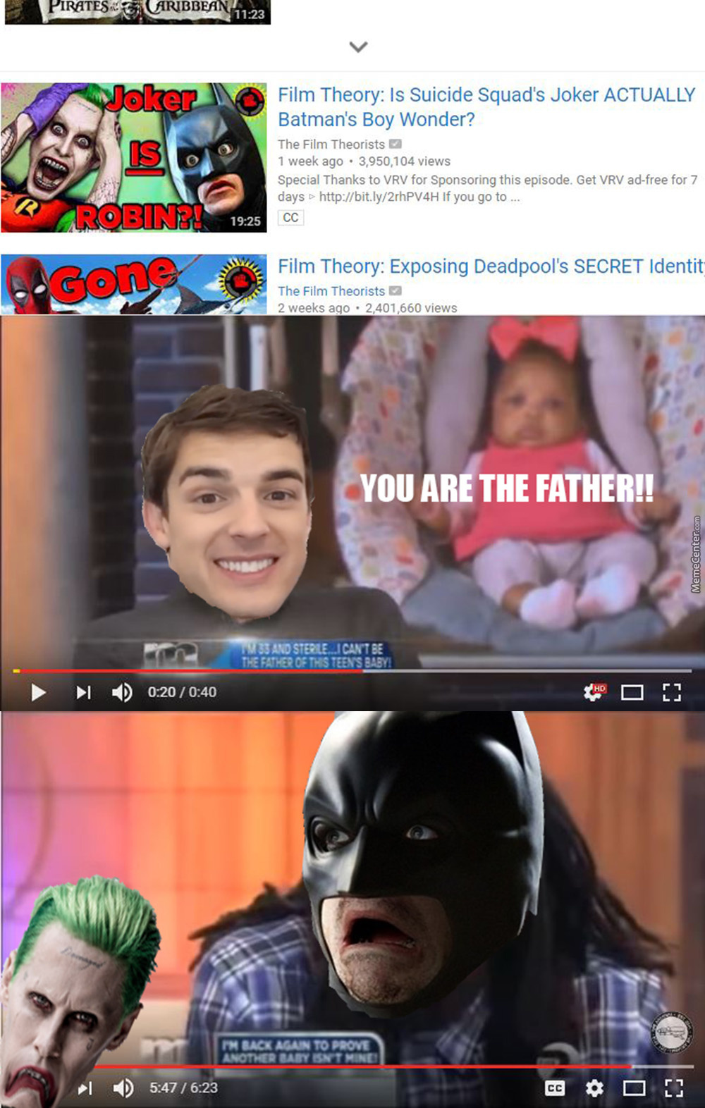 You Are The Father!!!